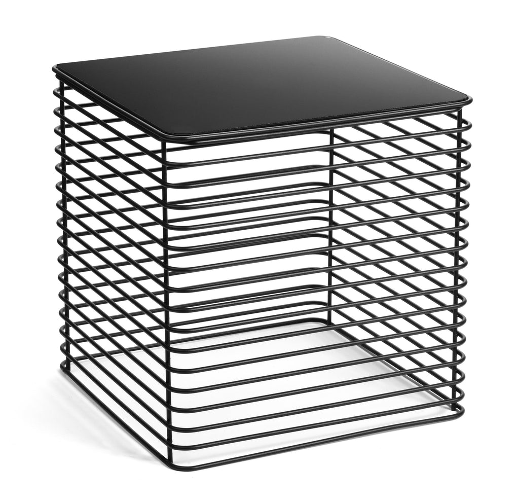 Modern Black Steel Square Table by Whitebox