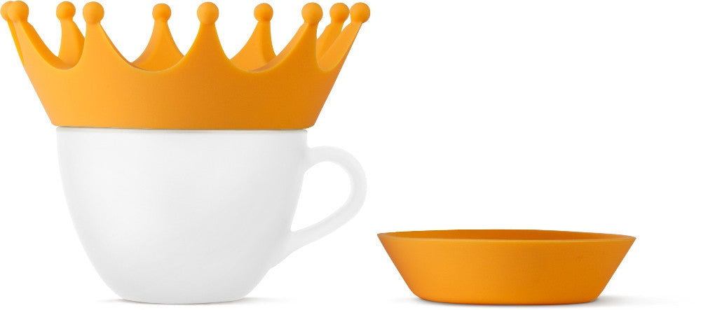 Teaball Crown, no drip single serving tea maker, cover, and drip guard