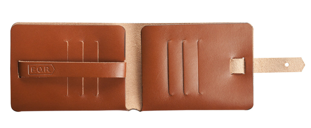 Leaf Wallet, Brown Italian Leather