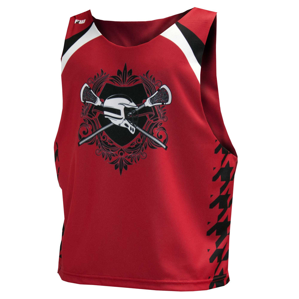 Fit 2 Win Crown Collection Red, Black, White Sublimated Lacrosse Tank Top, S/M