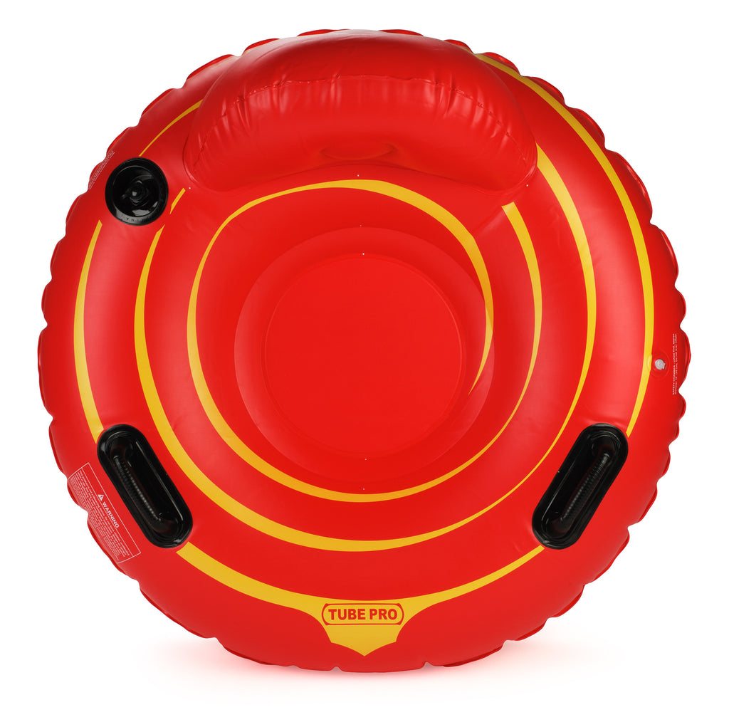 "Tube Pro Red 44"" Premium River Tube with Backrest and Floor"