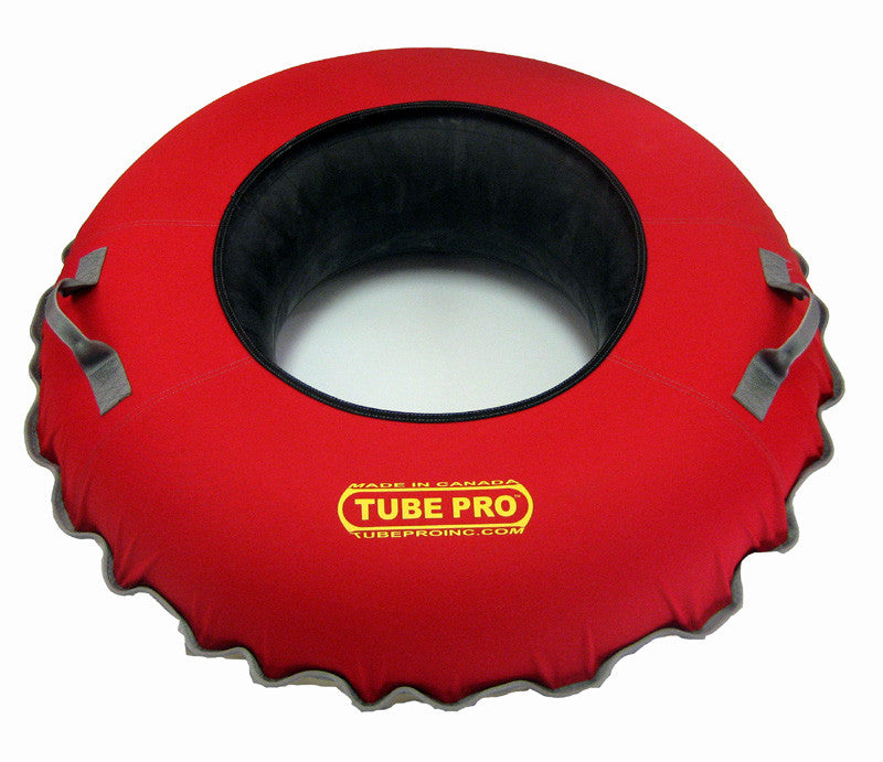 "Tube Pro Red 43"" Urethane Bottom Snow Tube With Reinforced R20 Inner Tube"