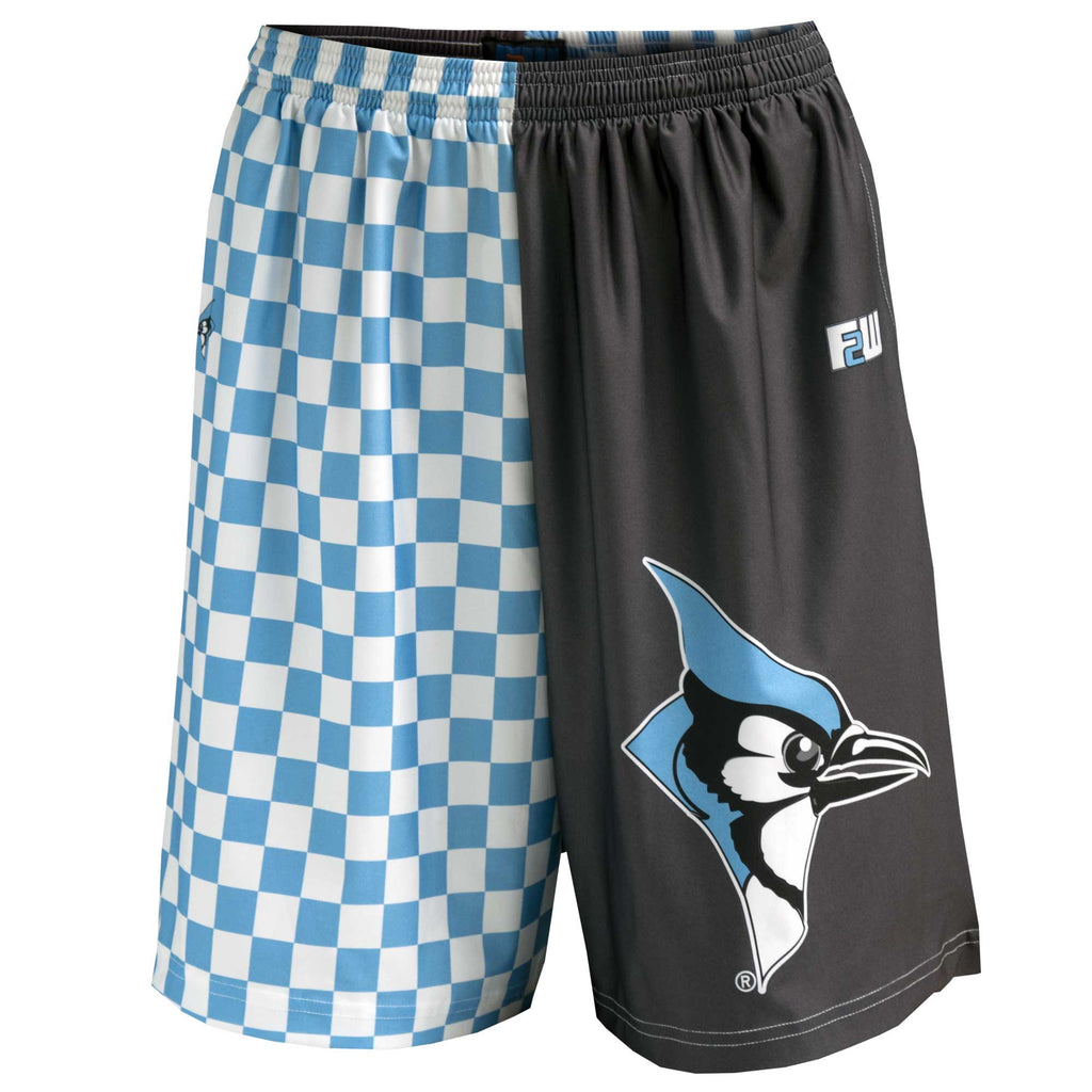 Fit 2 Win Hopkins Light Blue and Gray Sublimated Shorts