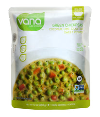 Vana Life Foods Legume Bowl with Green Chickpeas, Coconut, Lime, Cilantro, and Sweet Potato, 10 Ounce Pouch (Pack of 1)
