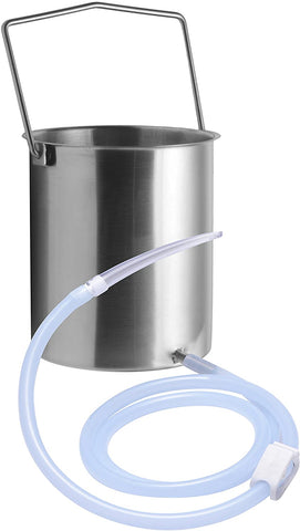 Cleanstream Premium Stainless Steel Enema Bucket Kit with Silicone Hose