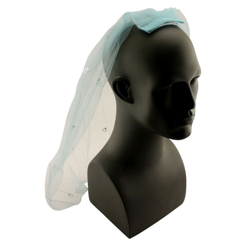 Stylish Blue Veil