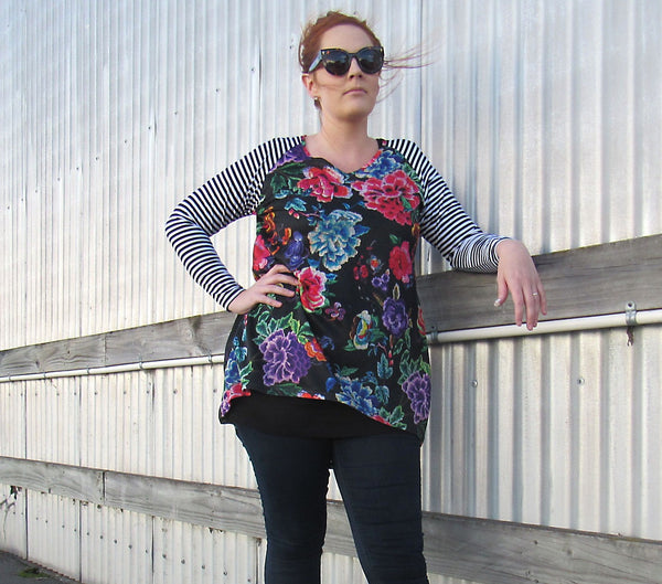 MARLEY TOP BLACK FLORAL