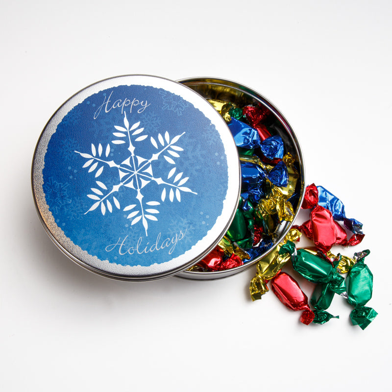 16 oz. Assorted Candies Happy Holidays Tin