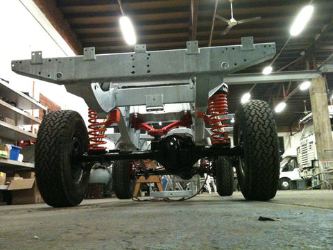 The chassis is galvanised and ready for the engine and body.