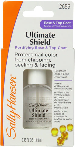 Sally Hansen Ultimate Shield Protects Color From Chipping Base & Top Coat 2655