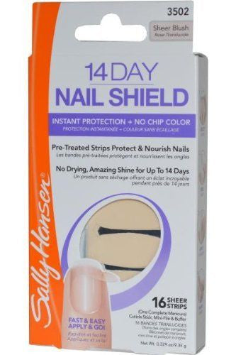 Sally Hansen 14 Day Nail Shield Instant Protection No Chip 3502 Sheer Blush