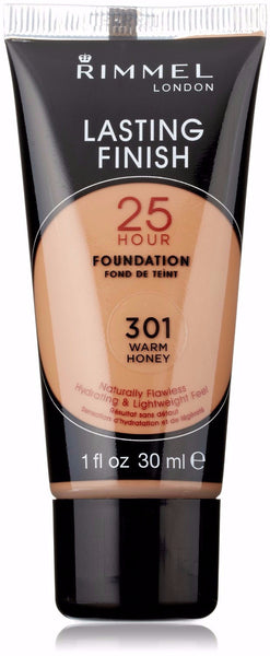 Rimmel Lasting Finish 25 Hour Liquid Foundation 301 Warm Honey