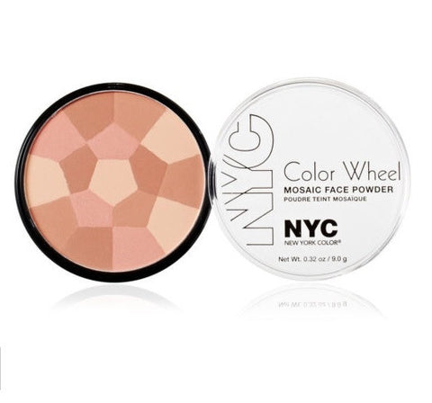 NYC New York Color Color Wheel Mosaic Face Powder - Rose Glow 725A