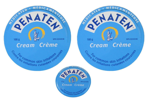 Penaten Medicated Cream 2x 166g(5.86oz) +27g(0.95oz) Diaper Rash Skin Irritation
