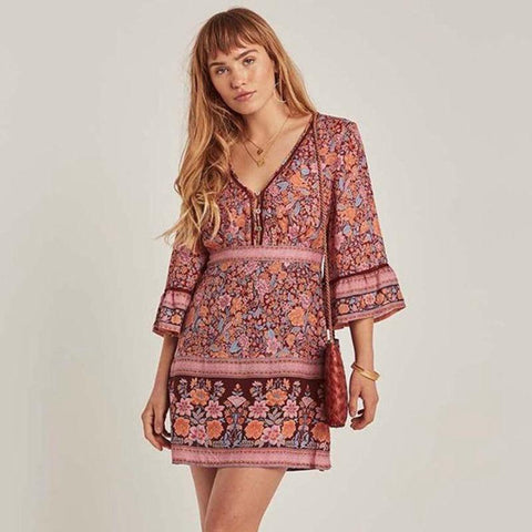 Robe de Cocktail Hippie Chic