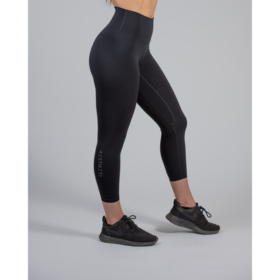 Luxe Seamed Legging – Black - Aestheti Athletics