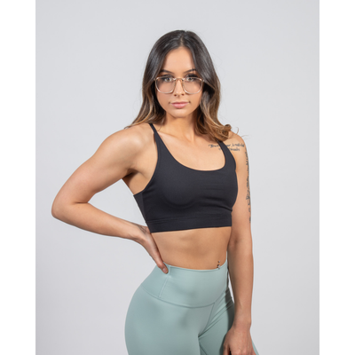 Spirit Sports Bra – Black - Aestheti Athletics