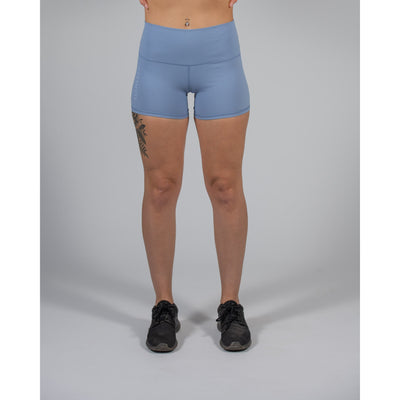 Luxe Seamed Short – Light Blue - Aestheti Athletics