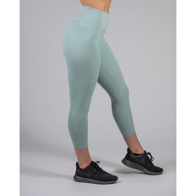 Luxe Seamed Legging – Light Turquoise - Aestheti Athletics