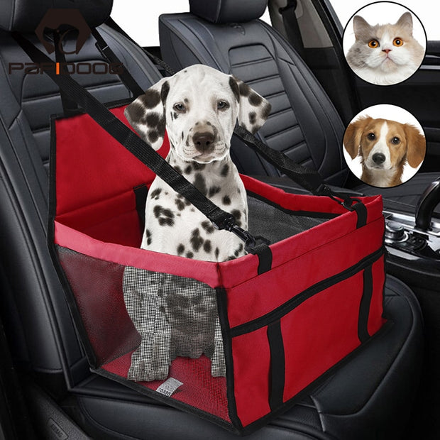 Pet Dog Carrier Car Seat Safety Belt Bag Waterproof Folding Breath Mesh Basket Protector Hammock For Small Cat Cover