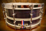 "DP Custom Series 14x6.5"" Snare Drum in Navy Walnut"