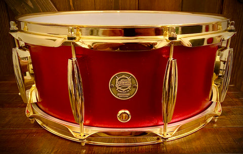 "Drumpickers DP Custom 14x6.5""  Red Rocker Maple/Mahogany Snare Drum"
