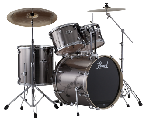 Pearl EXX725/C21 Export 5-Piece Shell Pack Drum Set in #21 - Smokey Chrome