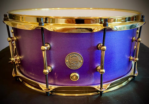 DrumPickers DP Custom Line Snare Drum In Candy Grape Finish