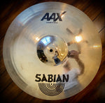 "Sabian 18"" AAX V-Crash Cymbal With Brilliant Finish"