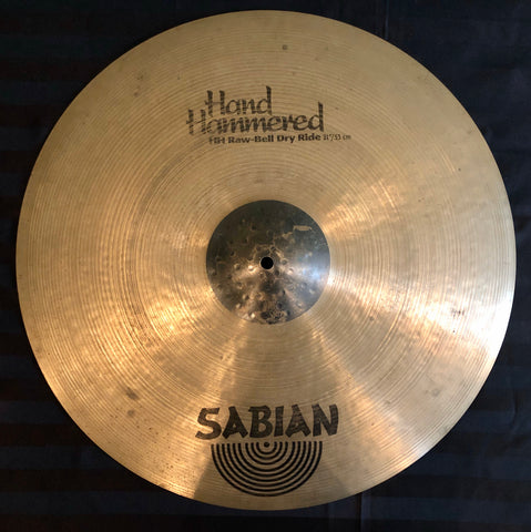 "Sabian Hand Hammered 21"" Raw Bell Dry Ride Cymbal"