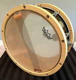 "D.P. Custom Heritage Classic Maple 07""x14"" with Maple Hoops in Piano Black"