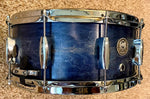"DrumPickers DP Custom Line maple/Mahogany/Maple 6-ply 14x6"" Snare Natural Blue Burst"