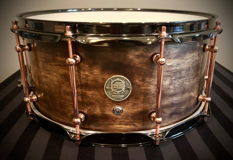 "D.P. Custom 14x6.5"" Professional 6-Ply Maple/Mahogany/Maple Snare Drum In Burnt Sahara Sand"
