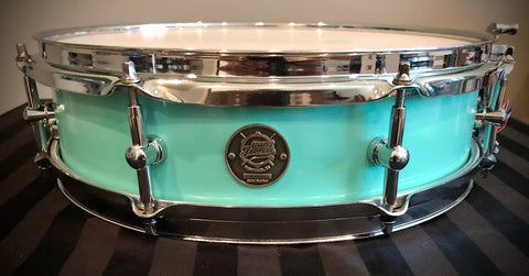 "DrumPickers 14x3.5"" Spearhead Piccolo Snare Drum in Seafoam Blue"