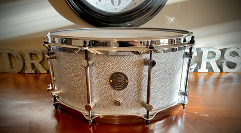 "DrumPickers 14x6.5"" DP Custom Line  Rich Silver Leather"