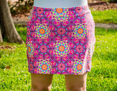**CLEARANCE** Patterned Iggy Skirt with Shorts