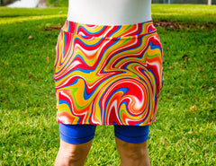 **CLEARANCE** Patterned Iggy Skirt with Bermudas