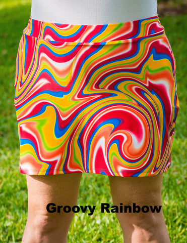 **FINAL CLEARANCE** Patterned Iggy Skirt with Shorts