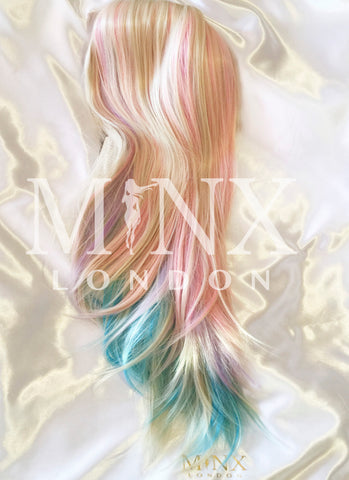 Rainbow Wig, Lace Front Wig