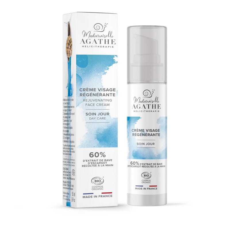 REJUVENATING DAY CREAM 60% snail extract Mademoiselle Agathe