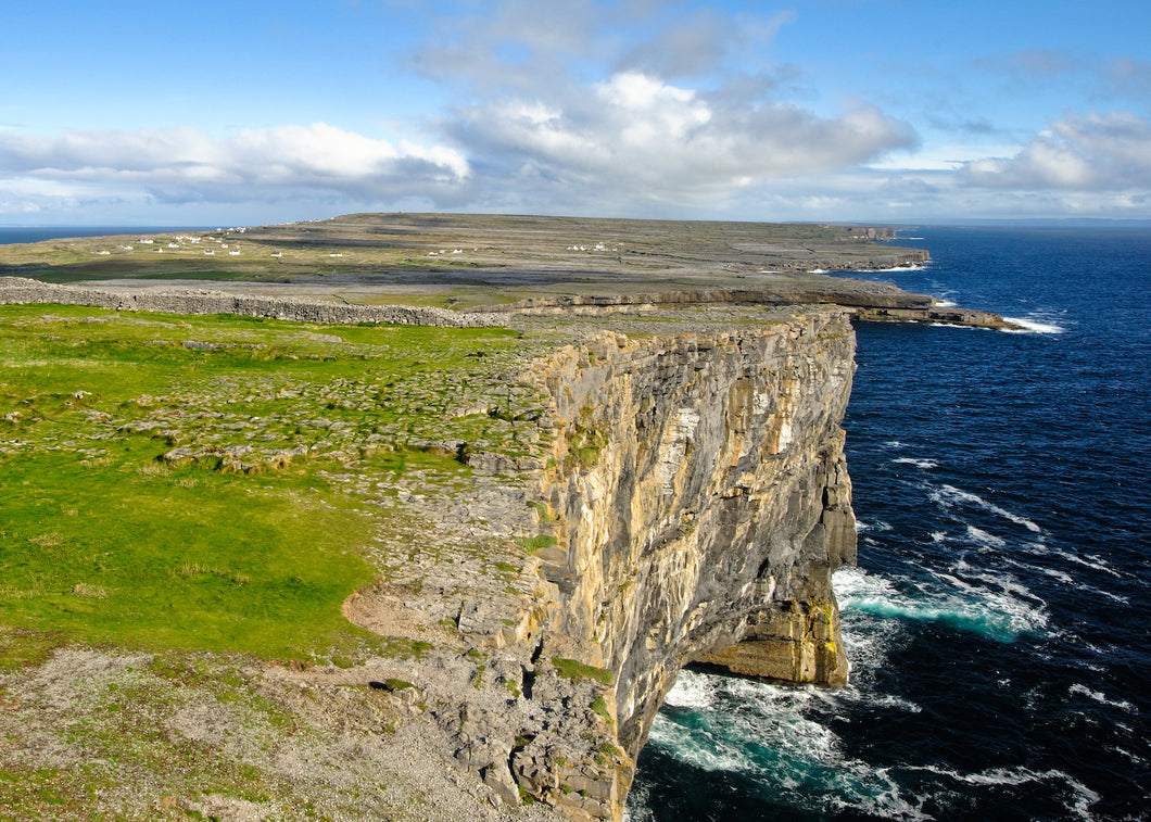 Aran islands,  the view  from Dun Aengus