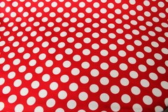 Mavis and Bob Fabric Red White Polka Dot