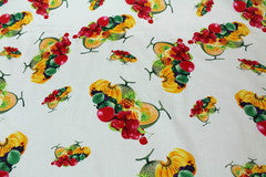 Mavis and Bob Fabric Tutti Frutti White