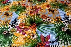 Mavis and Bob Fabric Tropical Palms