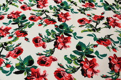 Mavis and Bob Fabric Vintage Rose on White