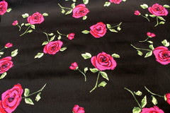 Mavis and Bob Fabric Vintage Rose on Black