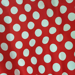 Red and White Spot Cotton Sateen