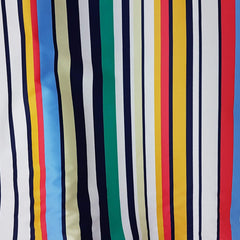 Stripe print on Cotton Sateen