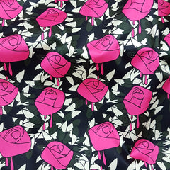 Vintage Rose Pink Prink on Cotton Sateen