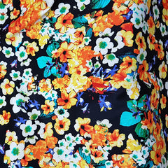 Yellow Floral Cotton Sateen